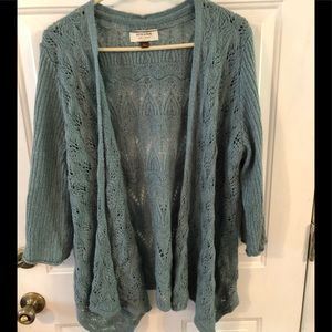 Pretty blue Sonoma cardigan. XL